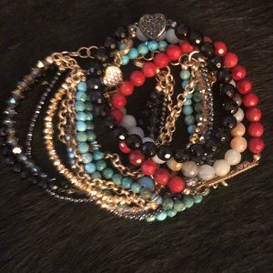 Stackable Beaded Bracelets.